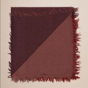 Aritzia Wilfred Colourblock Blanket Scarf Red
